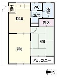 ムーニーカニエ[2階]の間取り