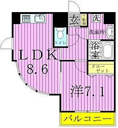 ハイポイント竹ノ塚[9階]の間取り