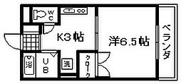 アットハウスMATSUTANI3[205号室]の間取り