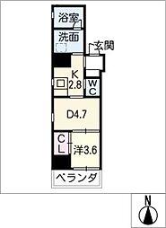 AZUR YABACHO[2階]の間取り