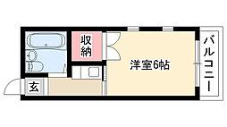 愛知県名古屋市南区六条町4丁目の賃貸アパートの間取り