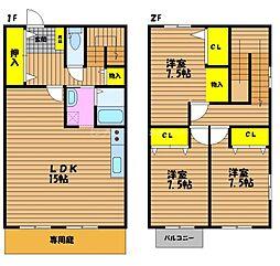 [タウンハウス] 岡山県岡山市南区築港緑町2丁目 の賃貸【/】の間取り