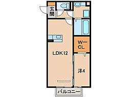 フィオーレ野崎II[1階]の間取り