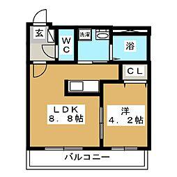 ヴェール[2階]の間取り