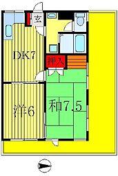 真寿美マンション[3階]の間取り