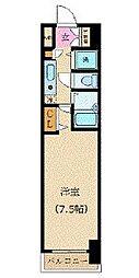 カスタリア新宿 3階1Kの間取り