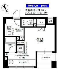 神奈川県藤沢市藤沢の賃貸マンションの間取り