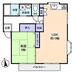 Mハイム[2階]の間取り