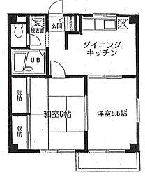 コスモス町田[A-201号室]の間取り