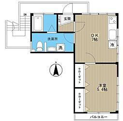 東京都豊島区高田3丁目の賃貸マンションの間取り