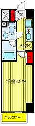 都営三田線 板橋本町駅 徒歩9分の賃貸マンション 4階1Kの間取り