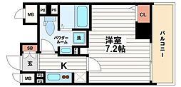 フォーチュン心斎橋EAST[10階]の間取り