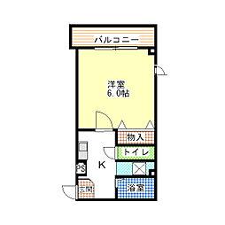 東京都江東区北砂1丁目の賃貸マンションの間取り