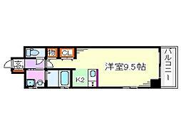広島県広島市中区舟入町の賃貸マンションの間取り