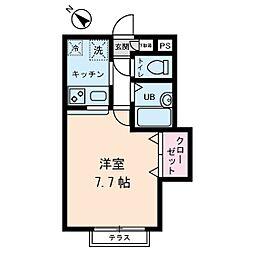 パークサイドテラス高井戸[1階]の間取り