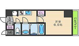 JR大阪環状線 天王寺駅 徒歩7分の賃貸マンション 7階1Kの間取り