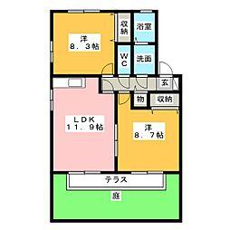 フローラティ[1階]の間取り