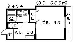 Heights DVG(ハイツDVG)[106号室号室]の間取り