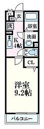 広島電鉄1系統 海岸通駅 徒歩3分の賃貸アパート 2階1Kの間取り