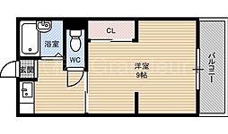 第一下前マンション[4階]の間取り