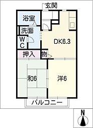 VivreB棟[2階]の間取り