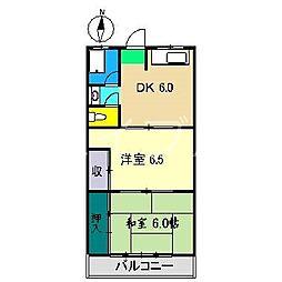 北村マンション[3階]の間取り