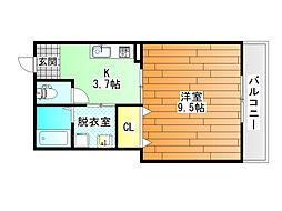 ハイツDVG[3階]の間取り