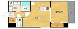 仮称城東区中央マンション[4階]の間取り