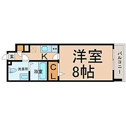 愛知県名古屋市中区新栄2の賃貸マンションの間取り