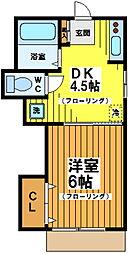 第二東コーポ[2階]の間取り