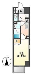 パークフラッツ新栄(旧:ラフィット新栄)[5階]の間取り