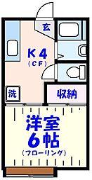 みのりハイツA棟[2階]の間取り