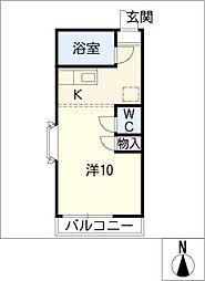 グリーン シャトー[1階]の間取り