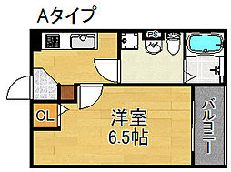 シャトー住之江[1階]の間取り