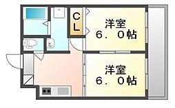 広島県福山市神辺町大字新徳田の賃貸マンションの間取り