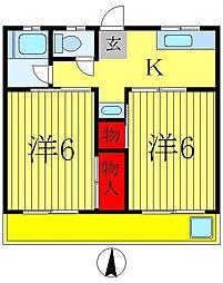 後田マンション[3階]の間取り