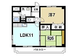 グリーンパーク平城京[1階]の間取り