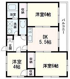 広島県広島市西区高須4丁目の賃貸マンションの間取り
