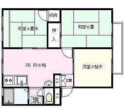 コスモハイツII[3階]の間取り
