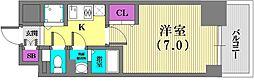 エスリード神戸三宮ラグジェ[10階]の間取り