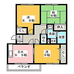 アーバンシャトレ[2階]の間取り