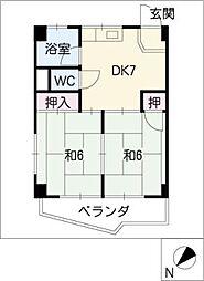 コーポハンター[4階]の間取り