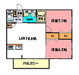 MTスクエア[3階]の間取り