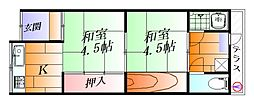 [テラスハウス] 大阪府吹田市山田市場 の賃貸【/】の間取り