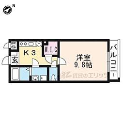 京阪本線 神宮丸太町駅 徒歩5分の賃貸マンション 5階1Kの間取り