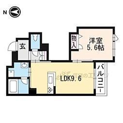 JR東海道・山陽本線 桂川駅 徒歩4分の賃貸マンション 3階1LDKの間取り