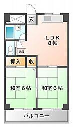 メゾン江坂[5階]の間取り
