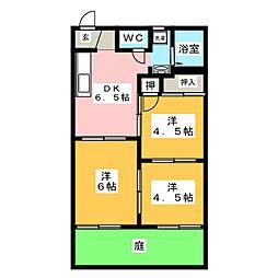 メゾン鳥居[1階]の間取り
