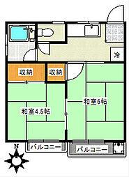 阪本荘[2階]の間取り