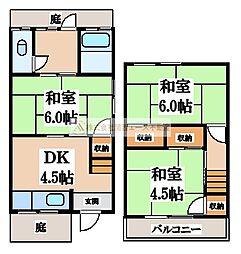 [一戸建] 大阪府堺市中区八田寺町 の賃貸【/】の間取り